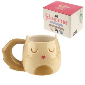 Feline-fine-katvormige-mok-crème