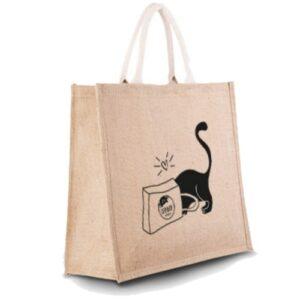 Jute-tas-kattenprint