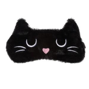 Slaapmasker-kat-zwart