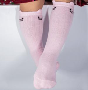 baby-katten-sokken-kniekousjes-roze