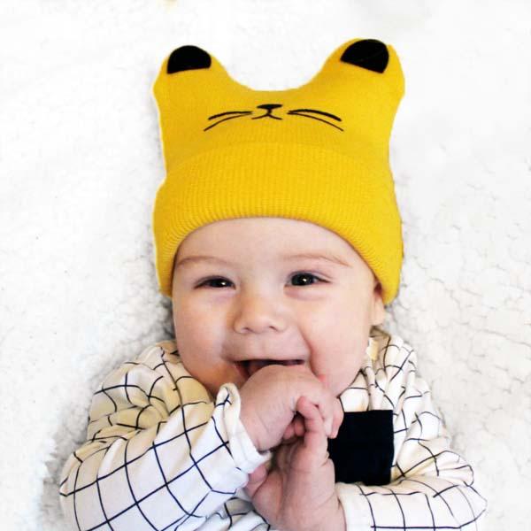 Magnifiek Baby muts met katten oortjes | 4 kleuren - OPZNKOP store #BR41
