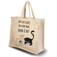 boodschappentas-jute-kattenprint