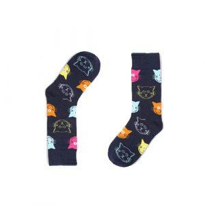happy-cat-socks-blauw-kleur