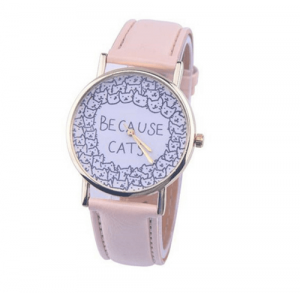 katten-horloge-because-cats-beige