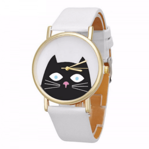 katten-horloge-black-cat-goud-wit