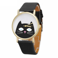 katten-horloge-black-cat-goud-zwart