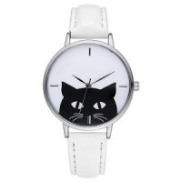 katten-horloge-black-cat-zilver-wit