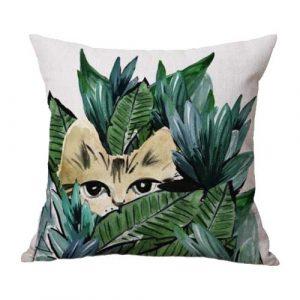 katten-kussenhoes-botanische-print