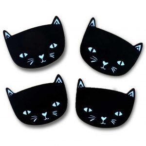 katten-onderzetters-zwart