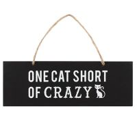 katten-quote-hanger-one-cat-short-of-crazy