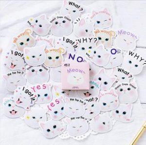 katten-stickers-roze-meow