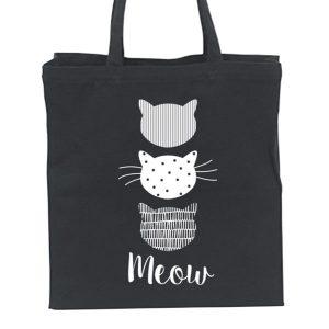 linnen-tas-katten-print-zwart