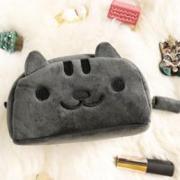 pluche-katten-make-up-etui-grijs