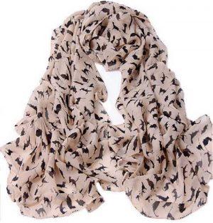 sjaal-kattenprint-roze2