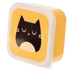 Katten lunchtrommels feline fine set van 3