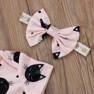 baby-romper-katten-print-roze-haarbandje