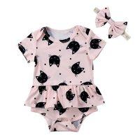 baby-romper-kattenprint-roze-strikje