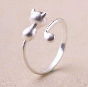 katten-ring-cat-tail-zilverkleurig