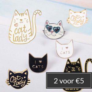 pins-cat-lady-stapelkorting-2-voor-5