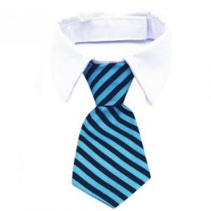 Katten-stropdas-blauw