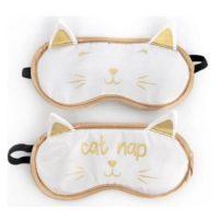 slaapmasker-kat-wit-goud