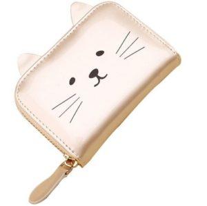 Pasjeshouder-katten-portemonnee-wit