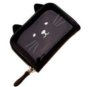 Pasjeshouder-katten-portemonnee-zwart