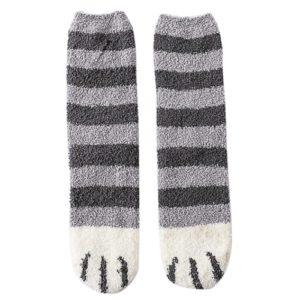 Katten-sokken-winter-sokken-grijs