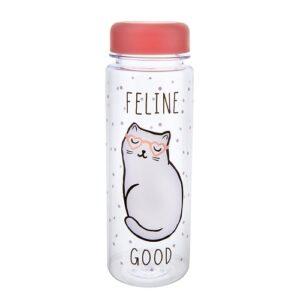 waterfles-kattenprint-feline-good