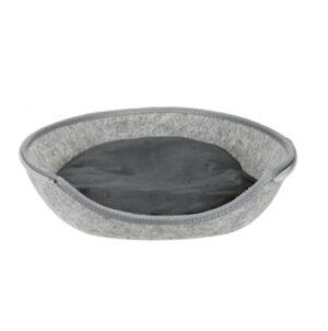 Kattenmand Luna met rits grijs 3