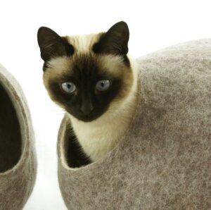 Wollen Kattenmand Design Rond 2 kleuren 2