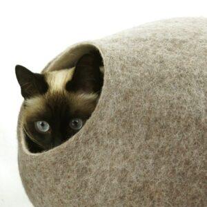 Wollen Kattenmand Design Rond 2 kleuren 3
