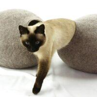 Wollen Kattenmand Design Rond 2 kleuren 4