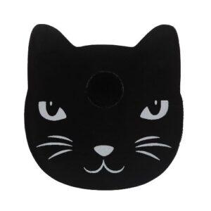 Kaarsenhouder zwarte kat