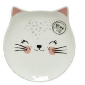 Katten bordje me gezichtje dichte oogjes
