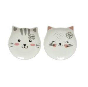 Katten bordje met gezichtje 2 varianten