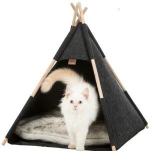 Katten schuilplaats tipi