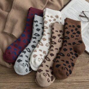 Katten sokken met leopard print