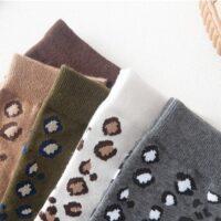 Katten sokken met panterprint
