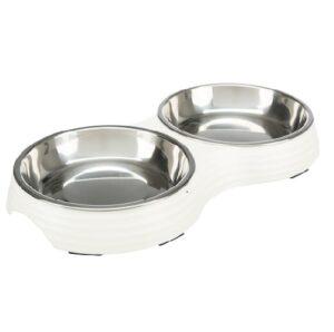 Melamine katten voer- en waterbak set met antislip