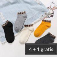 enkel sokken met leopard print | 4 varianten