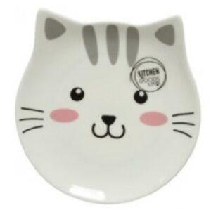 katten bordje met gezichtje open oogjes