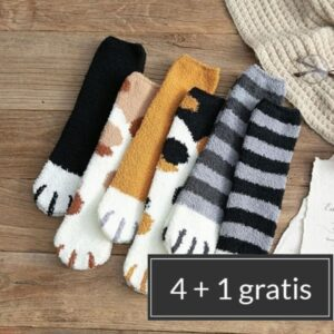 katten sokken 'Winterfurrr'   5 kleuren
