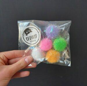 Gekleurde speelballetjes setje van 5