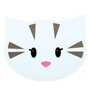 katten placemat kattenhoofdje